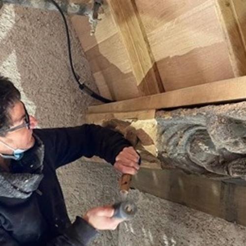 Le Haut-Corlay. Les travaux de restauration de l'église avancent