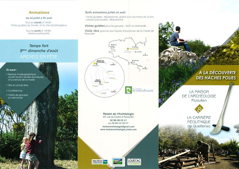 La Maison de l''archéologie de Plussulien & La carrière néolithique de Quelfenec 0